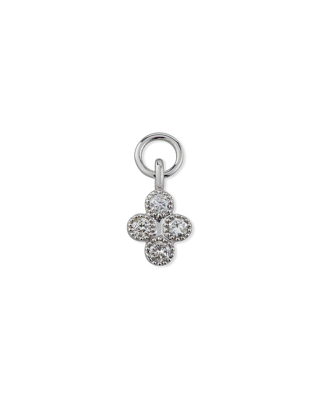 18K White Gold Petite Diamond Quad Earring Charm