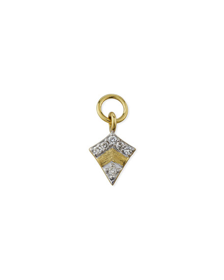 Jude Frances 18K Petite Pave Diamond Kite Earring Charm, Single