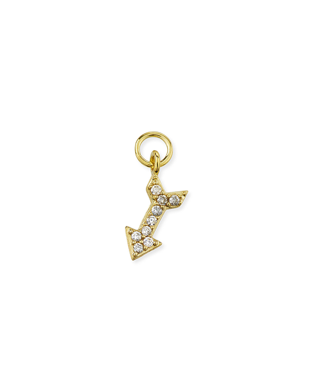 18K Petite Pave Diamond Arrow Earring Charm
