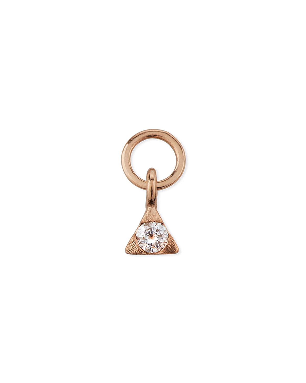 18K Rose Gold Petite Diamond Trillion Earring Charm
