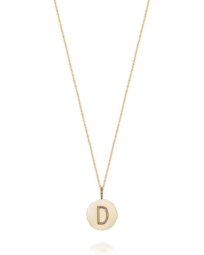 Kari Personalized 14k Gold Initial Necklace