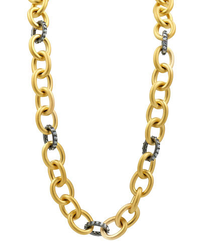 Heavy Alternating Link Toggle-Chain Necklace