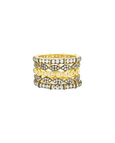 Classic Mixed-Stack Rings, Set of 5, Size 5-9