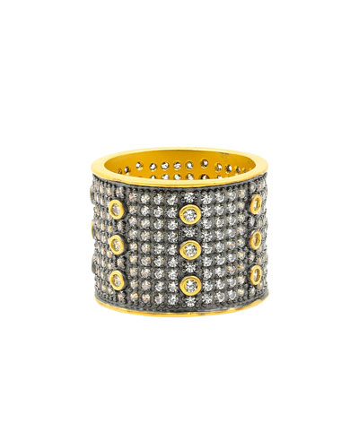 Signature All Over Pave Wide Band Ring, Size 5-9