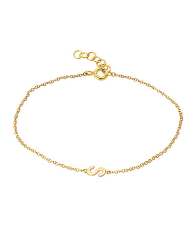 Personalized 14k Gold Initial Bracelet