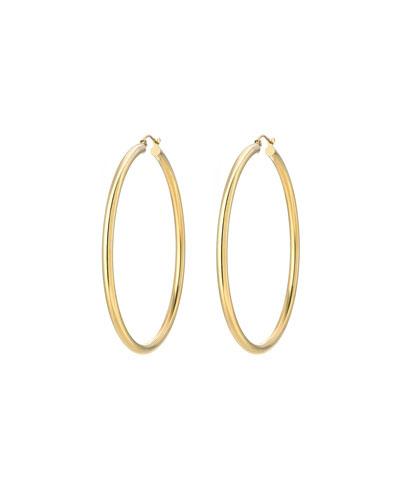 14k Gold Large Thick Hoop Earrings
