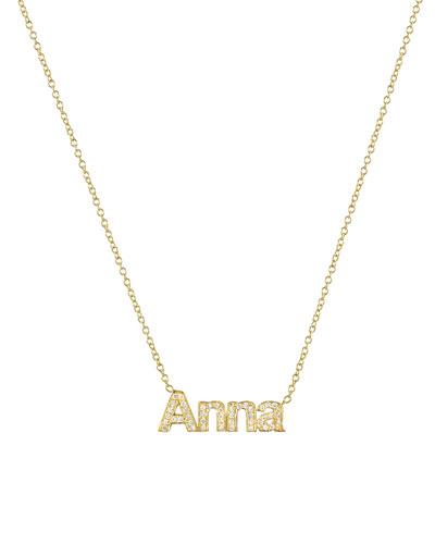 14k Diamond Name Necklace