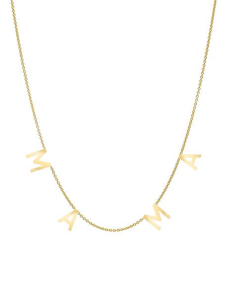 Zoe Lev Jewelry 14k Spaced MAMA Necklace