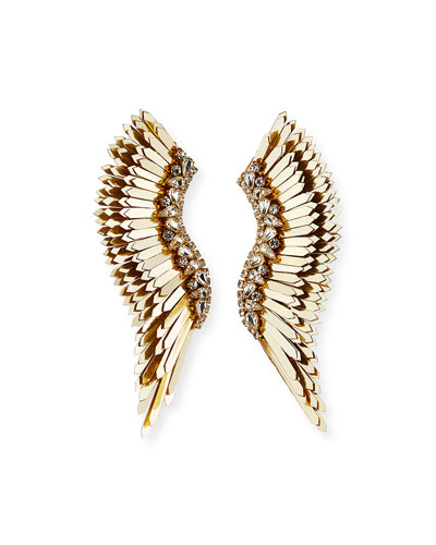 Mega Madeline Pearly Winged Earrings