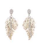 Alexis Bittar Feather Drop Post Earrings