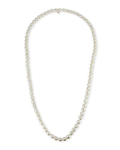 10mm Long Pearl-Strand Necklace