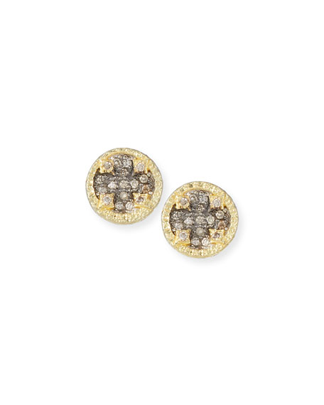 Armenta Old World Diamond Pave Stud Earrings w/ 18k Gold