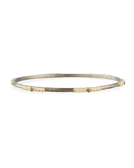 Armenta Old World 2-Tone Champagne Diamond Bangle
