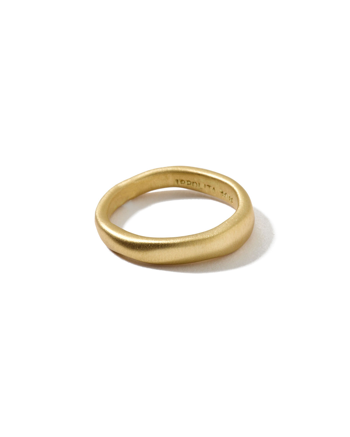 18k Gold Wide Squiggle Band Ring