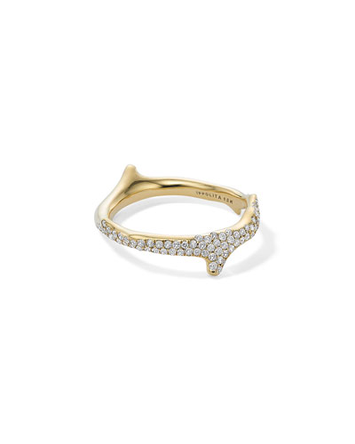18k Diamond Stardust Branch Ring