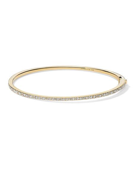 Ippolita Stardust 18k Gold Diamond Hinged Bracelet