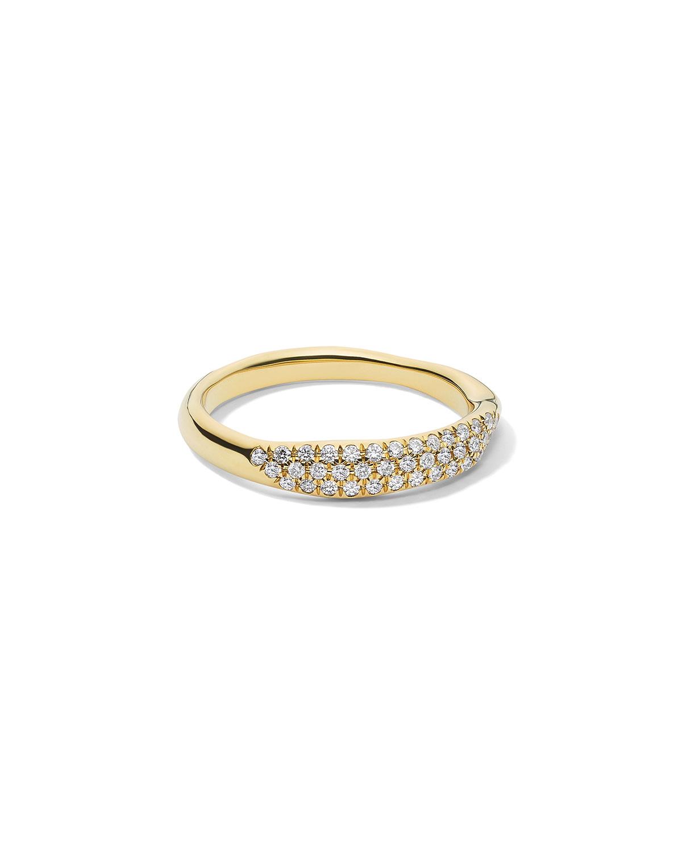 Ippolita Accessories STARDUST 18K DIAMOND SQUIGGLE RING