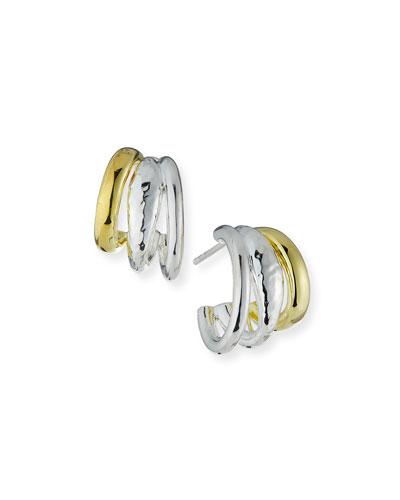Two-Tone Multi-Hoop Earrings