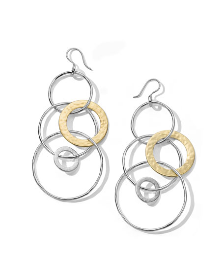 Ippolita Chimera 2-Tone Large Hammered Jet Set Earrings