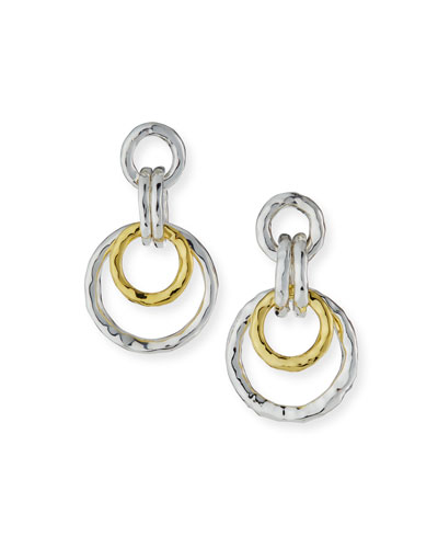 Two-Tone Thick Jet Set Earrings
