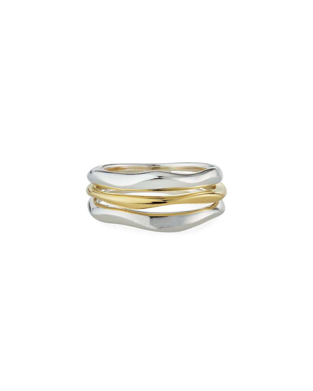Chimera 2-Tone 3-Row Ring