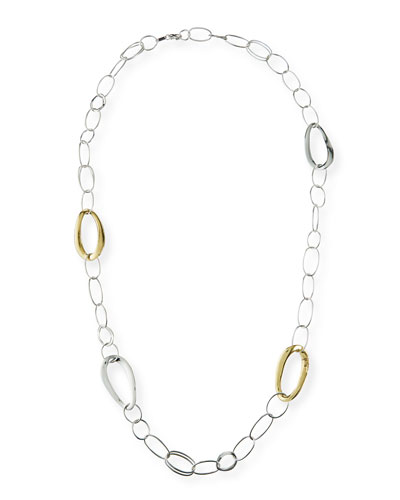 Two-Tone Long Chain Necklace