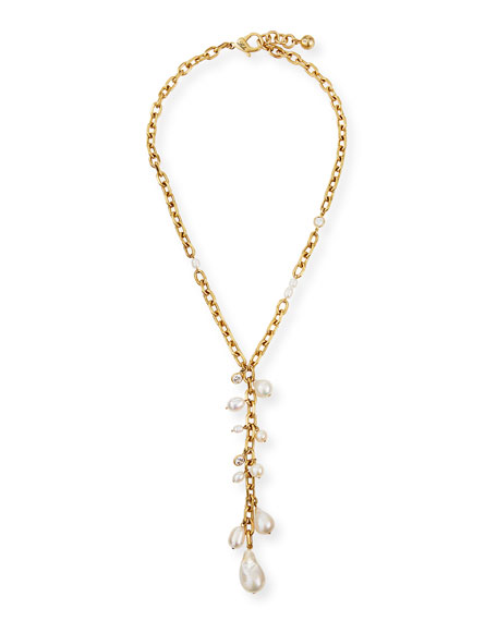Lulu Frost Pearl-Cluster Y-Drop Necklace