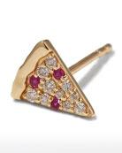 Sydney Evan 14k Diamond & Ruby Pizza Slice