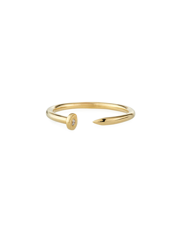 Sydney Evan Accessories 14K YELLOW GOLD NAIL RING W/ DIAMOND
