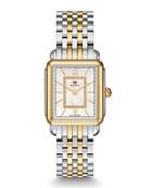 MICHELE Deco II Mid Two-Tone Diamond-Dial Watch