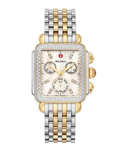 Deco Two-Tone Diamond Bracelet Watch