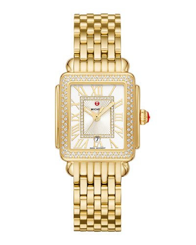 Deco Madison Mid Diamond Watch, Gold