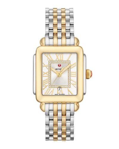 Deco Madison Mid Two-Tone Diamond-Dial Watch