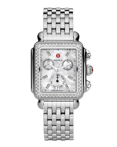 Deco 18 Stainless Steel Diamond Bracelet Watch