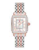 MICHELE Deco Madison Mid Rose/Steel Diamond Watch