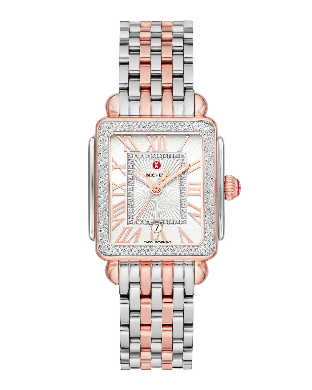 Deco Madison Mid Rose/Steel Diamond Watch