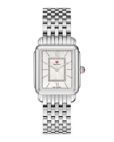 Deco II Mid Stainless Steel Diamond Watch
