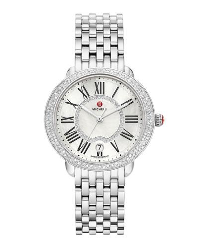 36mm Serein Mid Stainless Steel Diamond Watch