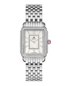 MICHELE Deco II Midsize Stainless Steel Diamond-Dial Watch