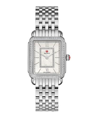 Deco II Midsize Stainless Steel Diamond-Dial Watch
