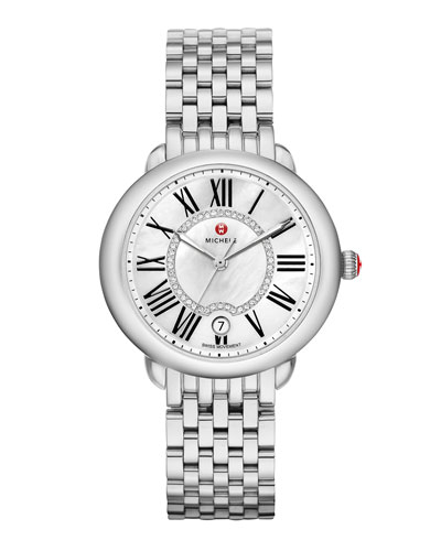 36mm Serein Mid Stainless Steel Diamond-Dial Watch