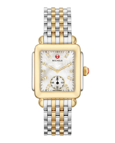 Deco Mid Two-Tone Diamond Dial Watch