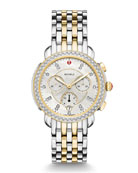 MICHELE 38mm Sidney Diamond Chronograph Steel/Gold Watch