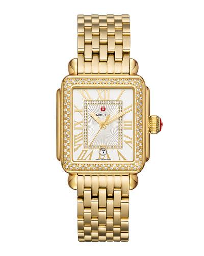 Deco Madison Diamond Watch, Gold