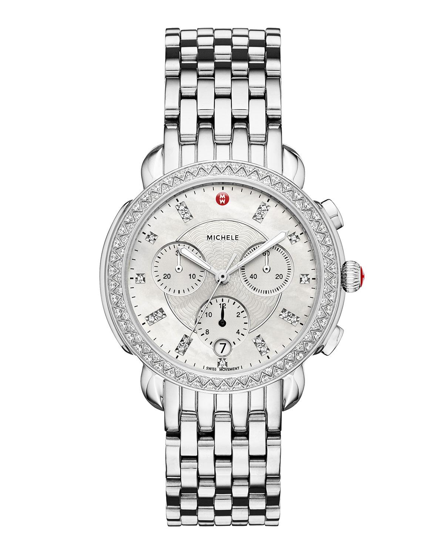 38mm Sidney Diamond Chronograph Watch