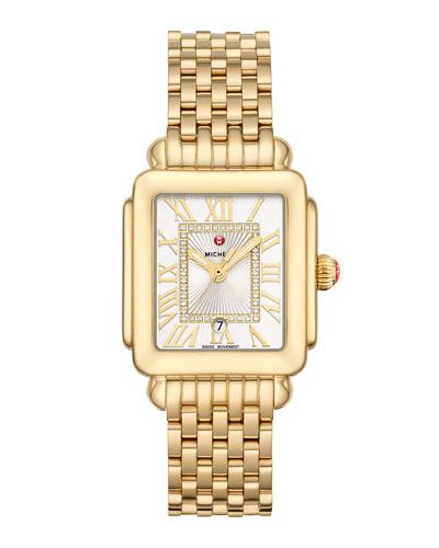 Deco Madison Mid Diamond-Dial Watch, Yellow