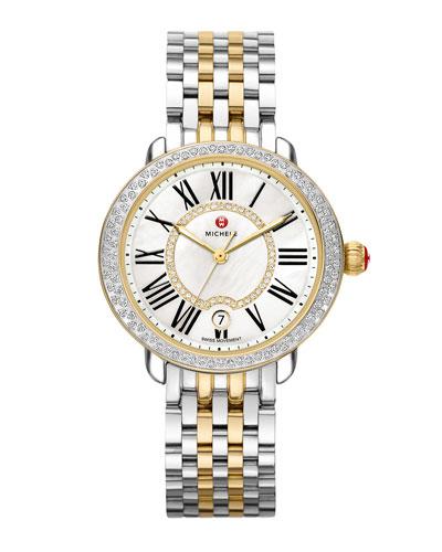 Serein Mid Two-Tone Diamond Watch