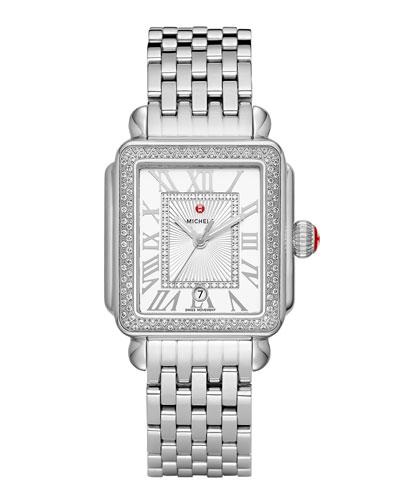 Deco Madison Diamond Watch, Silver/White