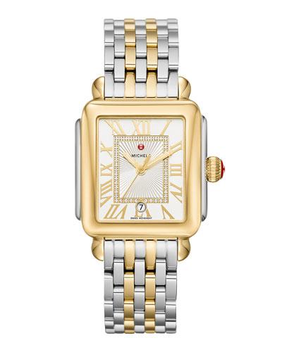 Deco Madison Two-Tone Diamond-Dial Watch