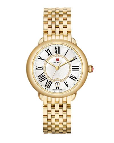 36mm Serein Mid Gold Diamond-Dial Watch